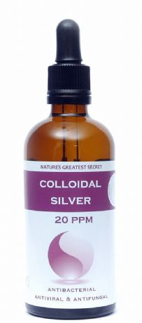 REFILLABLE 20PPM ENHANCED COLLOIDAL SILVER 100ML DROPPER - PH 9.0
